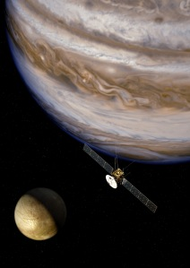Artist's impression of JUICE, JUpiter ICy moons Explorer, Copyright: ESA/AOES