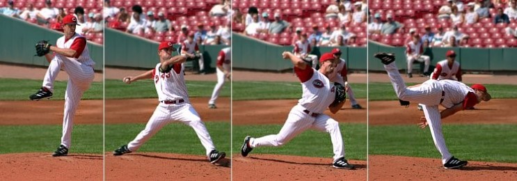 Where is the energy? Where did it come from? How did the energy get there? This is a so-called pitcher in American baseball. Pitchers are the ones who manage to throw object, in this case a small ball, fastest. How and why humans can put enough energy into throw so that the ball can accelerate to up to 170 km/h is question many physicists find intriguing. Source: GNU Licensed (http://commons.wikimedia.org/wiki/File:Baseball_pitching_motion_2004.jpg)
