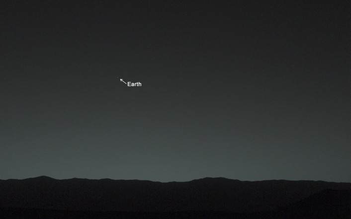 NASA's Curiosity rover snaps a picture of Earth from Mars. Source: http://www.jpl.nasa.gov/spaceimages/details.php?id=PIA17936
