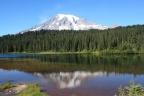 Why would a lake reflect a mountain?