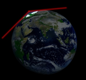 A satellite in LEO can downlink data only when visible from ground station